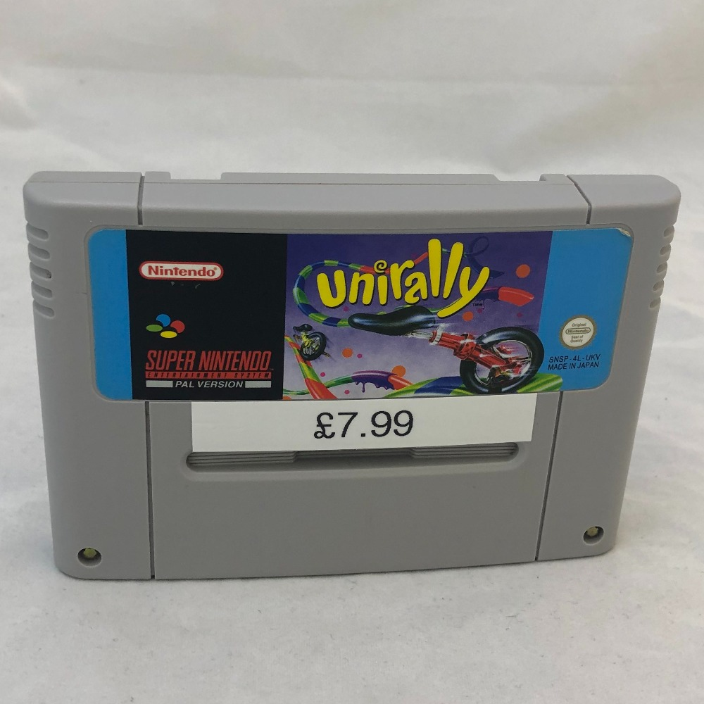 Product photo for UniRally Nintendo SNES Game