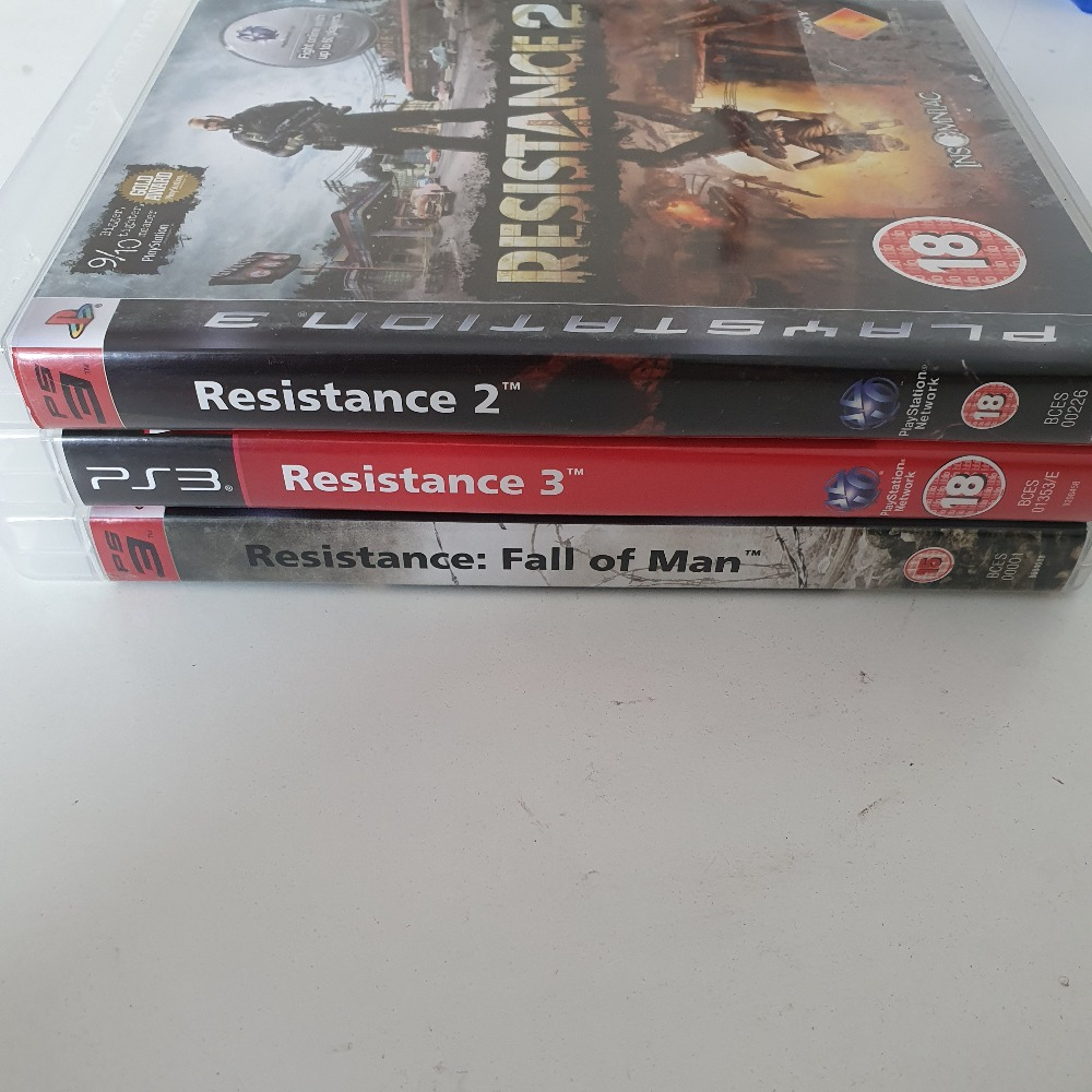 Product photo for Playstation 3  resistance 1,2,3 (3 set) playstation 3