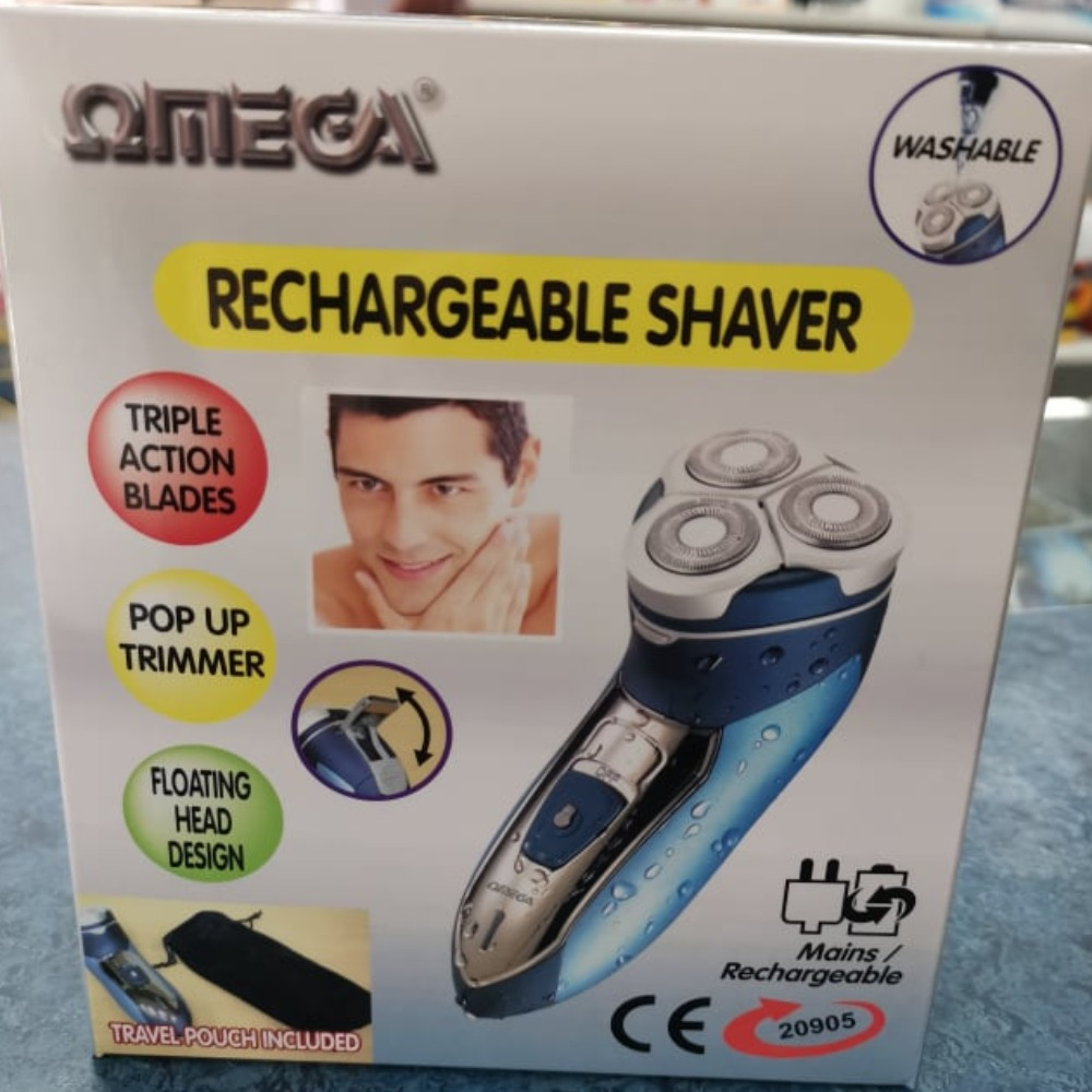 Product photo for omega omega Rechargeable Shaver