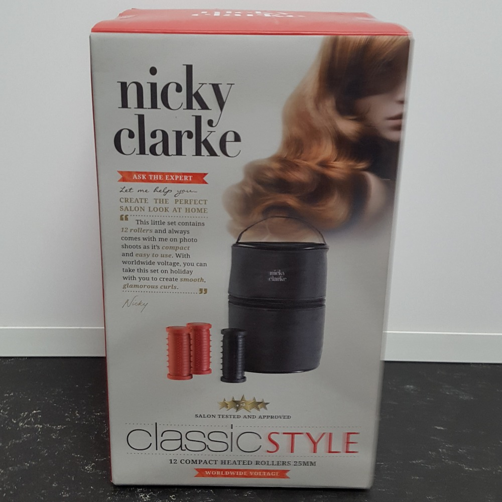 Product photo for Nicky Clarke Classic Compact Heated Rollers