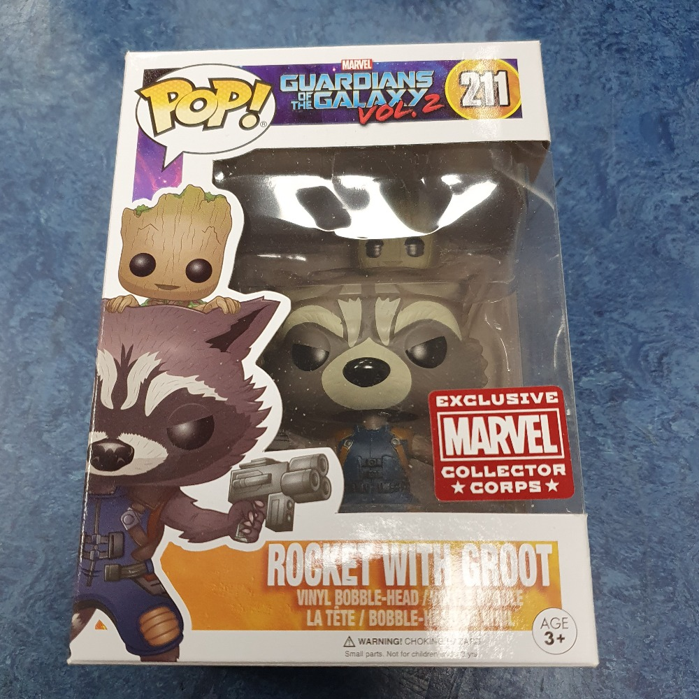 Product photo for Funko Pop Rocket with groot MCC funko