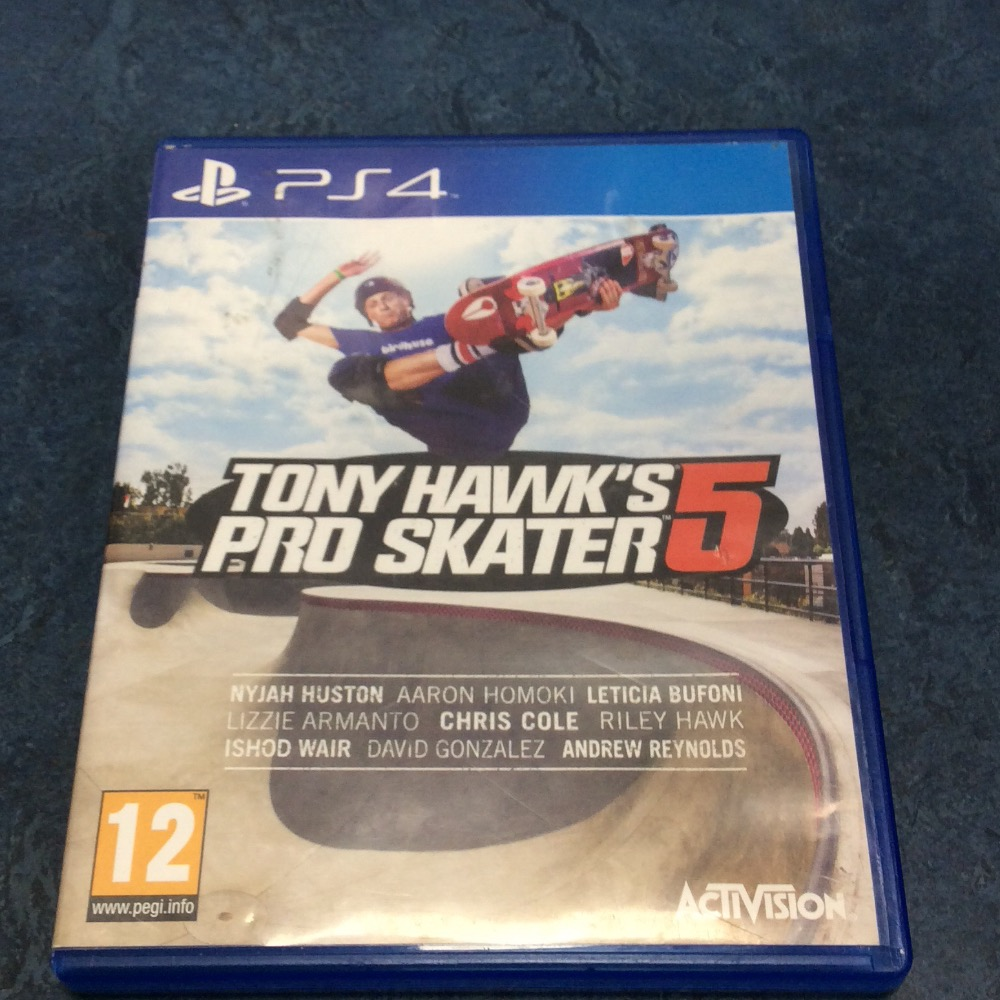 Product photo for PS4 Game Tony hawks pro skater 5