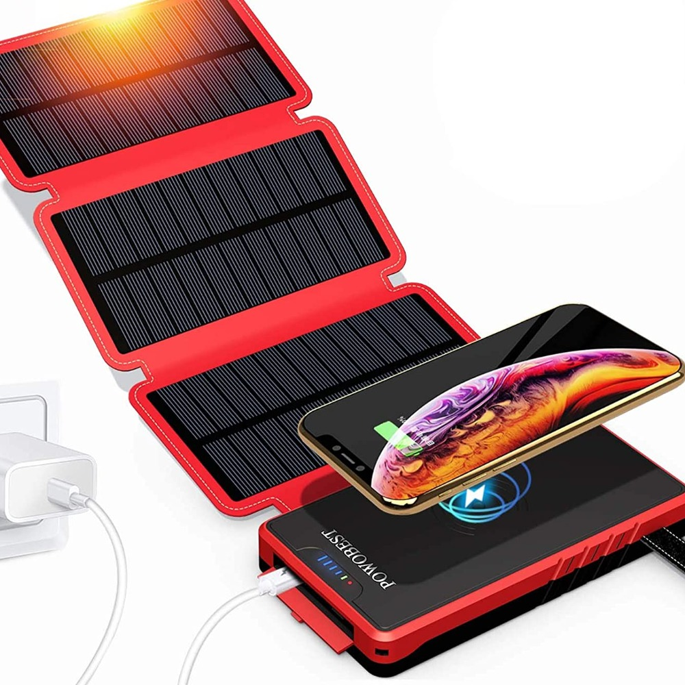 Product photo for Powobest:  SolarPower Wireless Battery Pack
