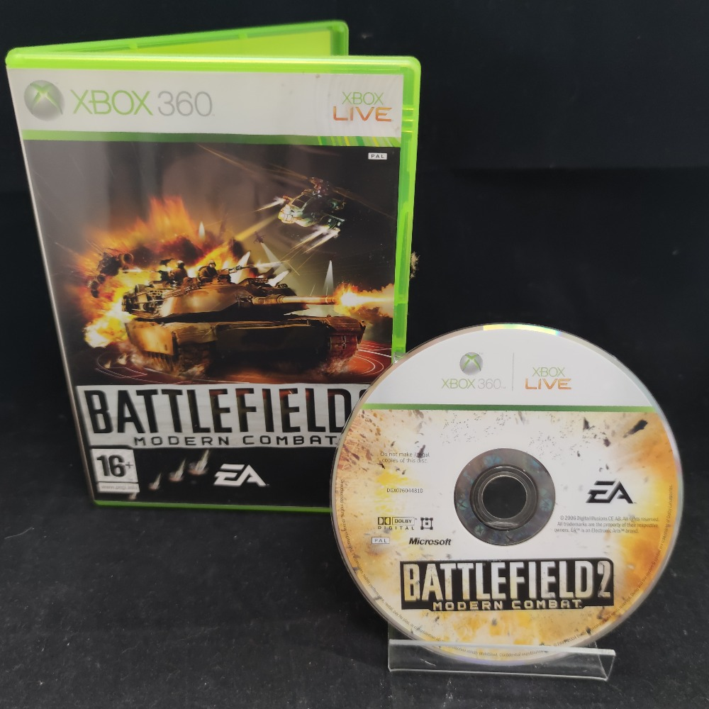Product photo for  Microsoft Xbox 360 game Battlefield 2