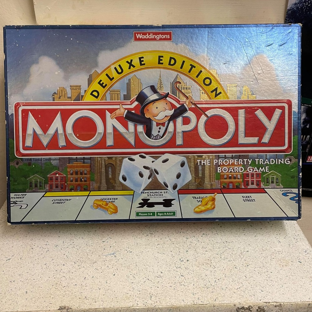 Product photo for Waddingtons Waddingtons Monopoly Deluxe Edition 1996