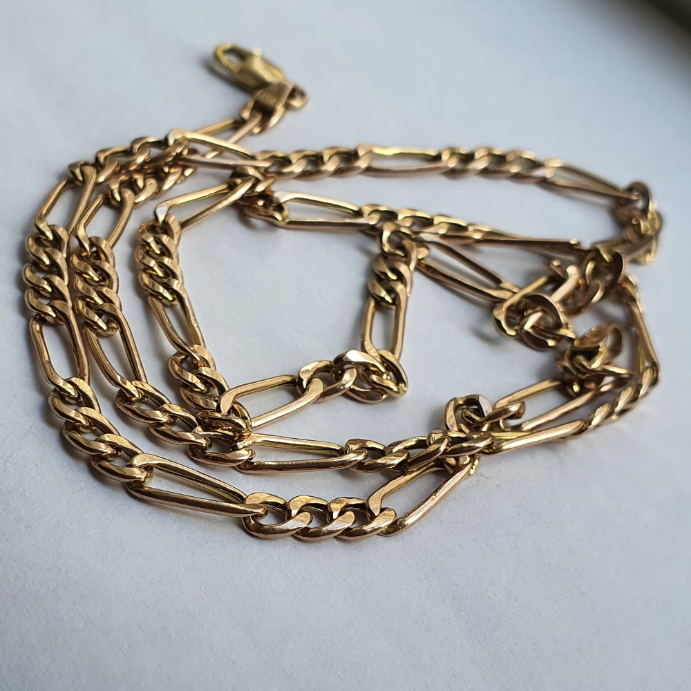 Product photo for Figaro chain 9ct yellow gold 6.36 grams