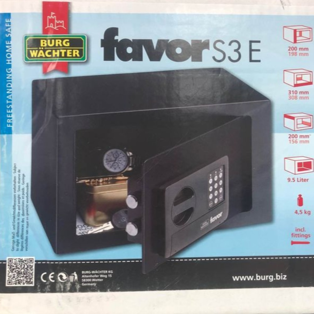 Product photo for !!May Sale!! Burg Watcher Favor S3 E Mini Safe (Was £30)
