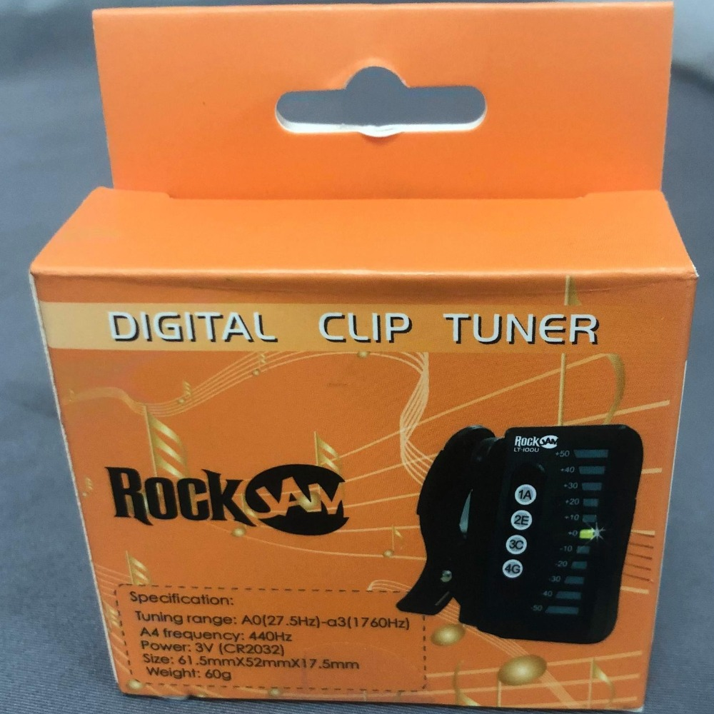 Product photo for RockJam LT-100U Digital Clip On Ukulele Tuner