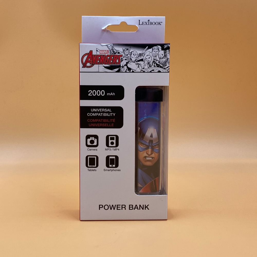 Product photo for AVENGERS 200mAh POWER BANK
