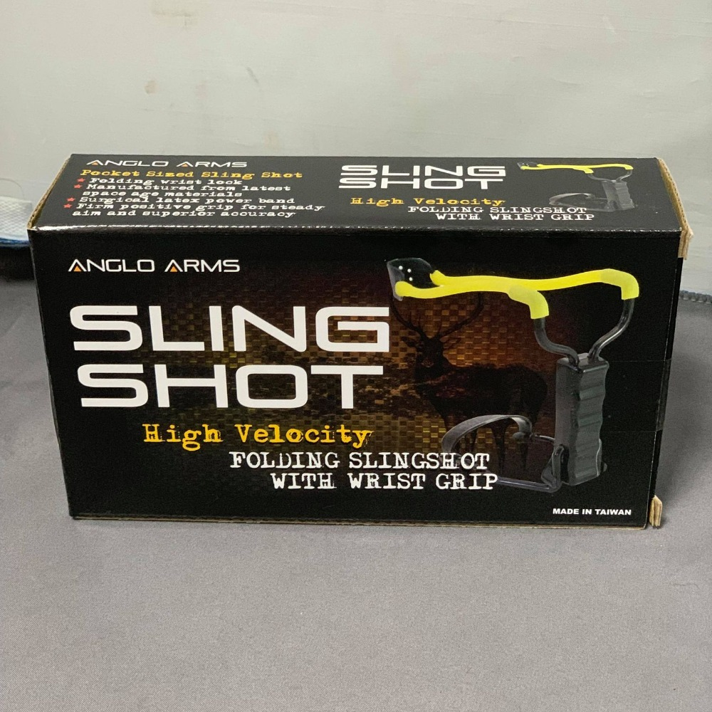Product photo for Anglo Arms Folding High Velocity Sling Shot for Fishing