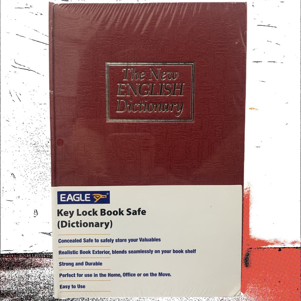 Product photo for Dictionary Book Safe with Key Lock (Red)