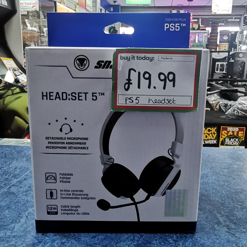 Product photo for Snakebyte PS5 Wired Headset