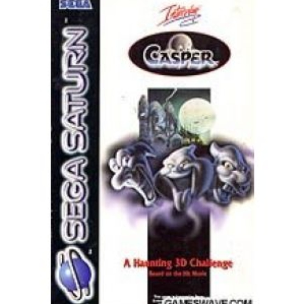 Product photo for Sega Saturn Casper a Haunting 3d Challenge Game