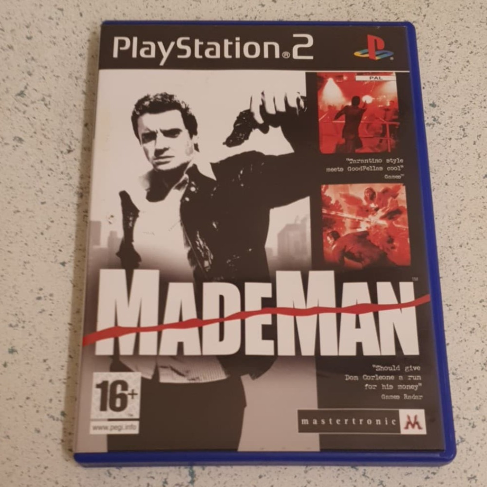 Product photo for PlayStation 2 Game Mademan  ps2 game