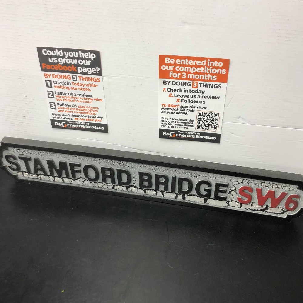 Product photo for Stamford Bridge Road Sign