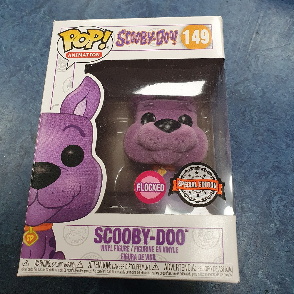 Product photo for Funko pop purple flocked scooby doo #149