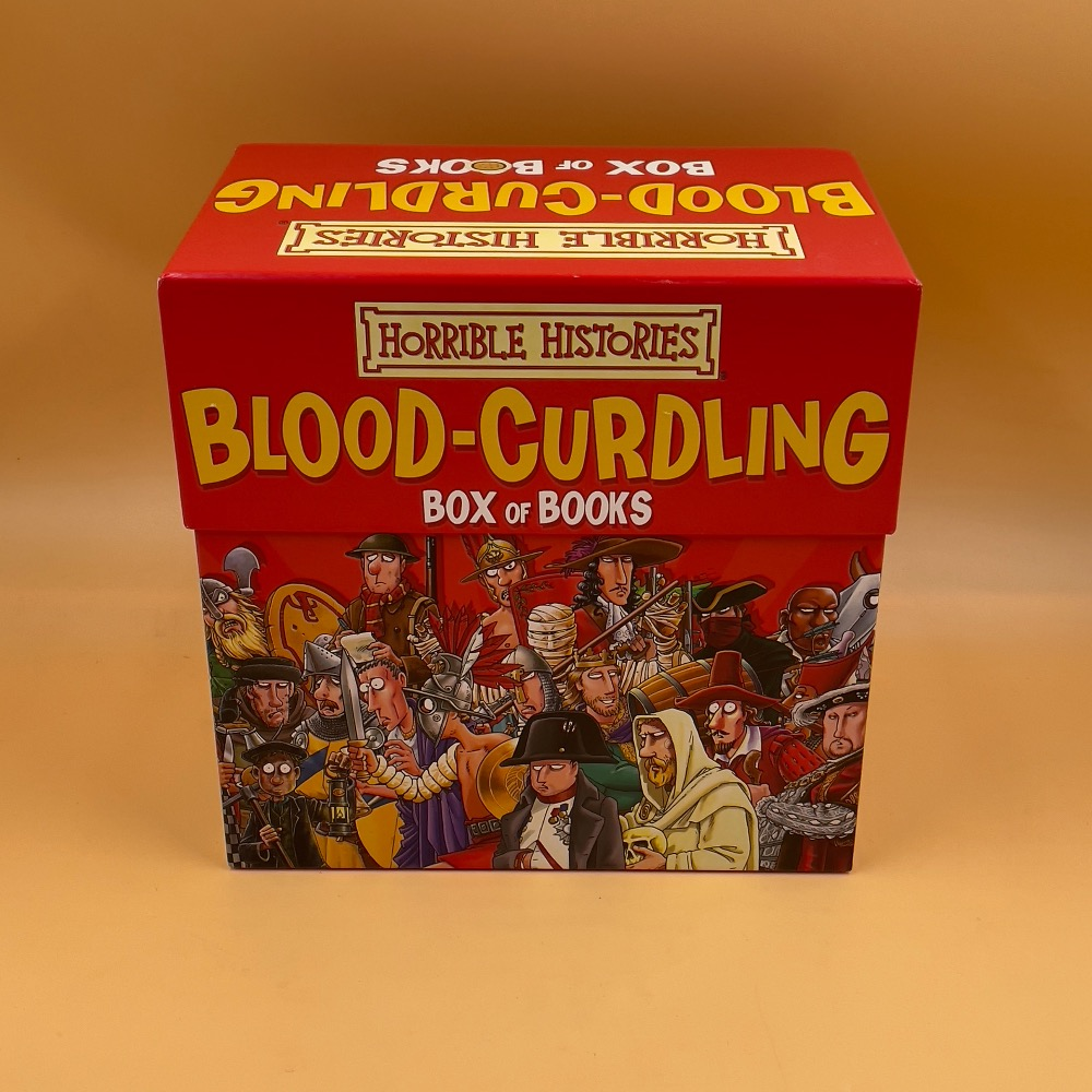 Product photo for HORRIBLE HISTORIES BLOOD-CURDLING BOX OF BOOKS