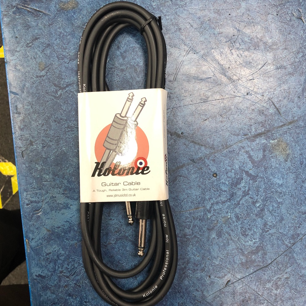Product photo for Kolonie Guitar cable 3m black