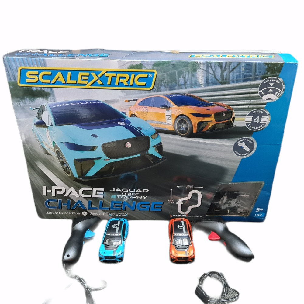Product photo for I-Pace Challenge Jaguar Scalextric
