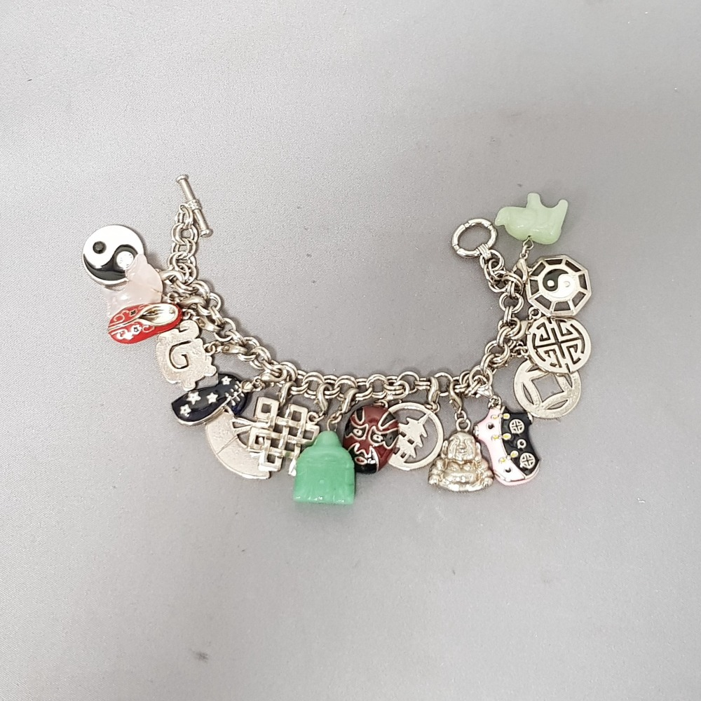 Product photo for Charm Bracelet with 16 charms