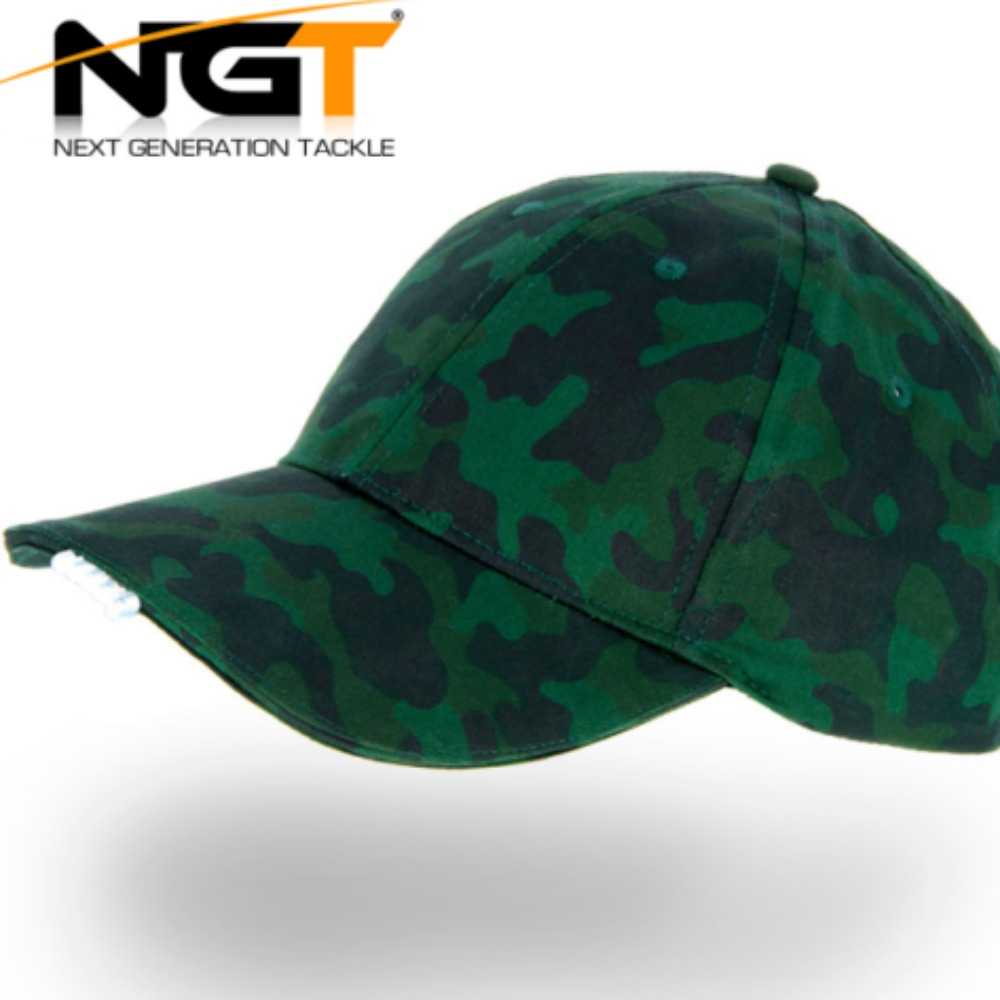 Product photo for NGT Camo Baseball Hat / Cap with Built in Lights