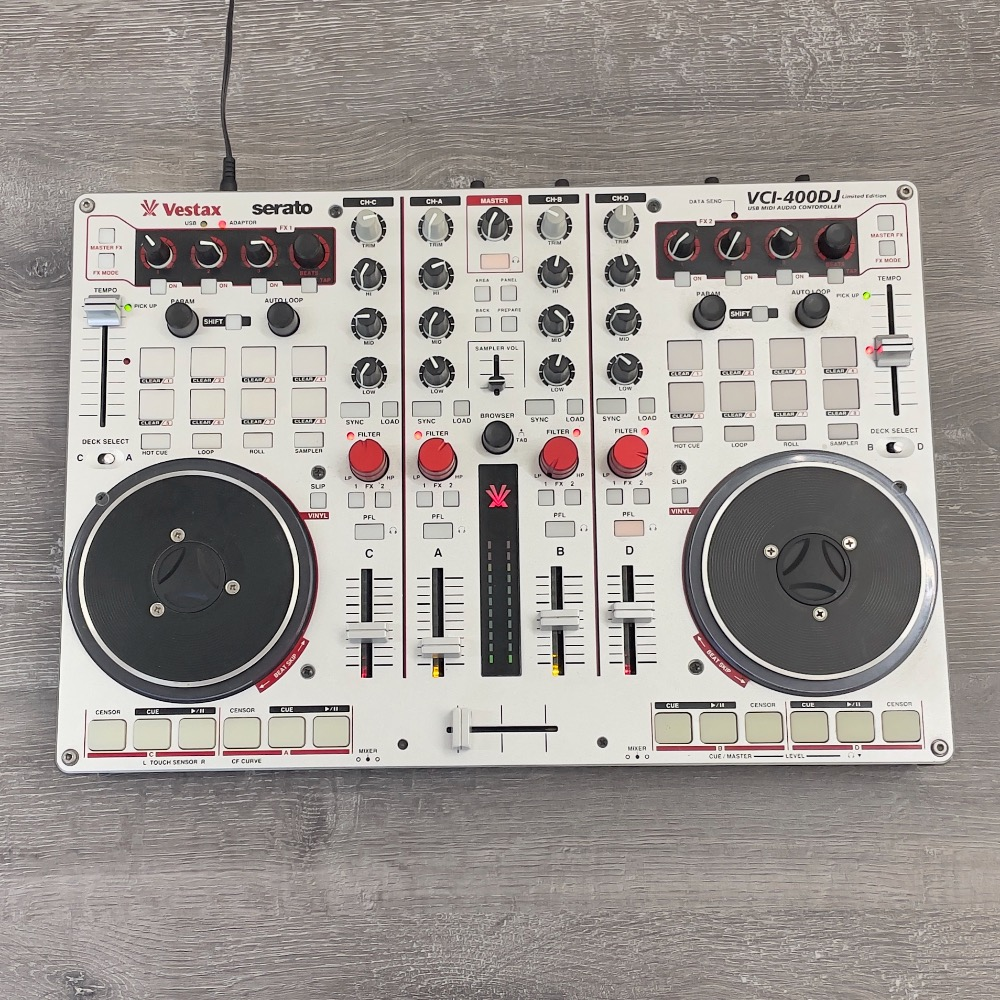 Product photo for VESTAX VCI-400DJ LIMITED EDITION USB MIDI AUDIO CONTROLLER