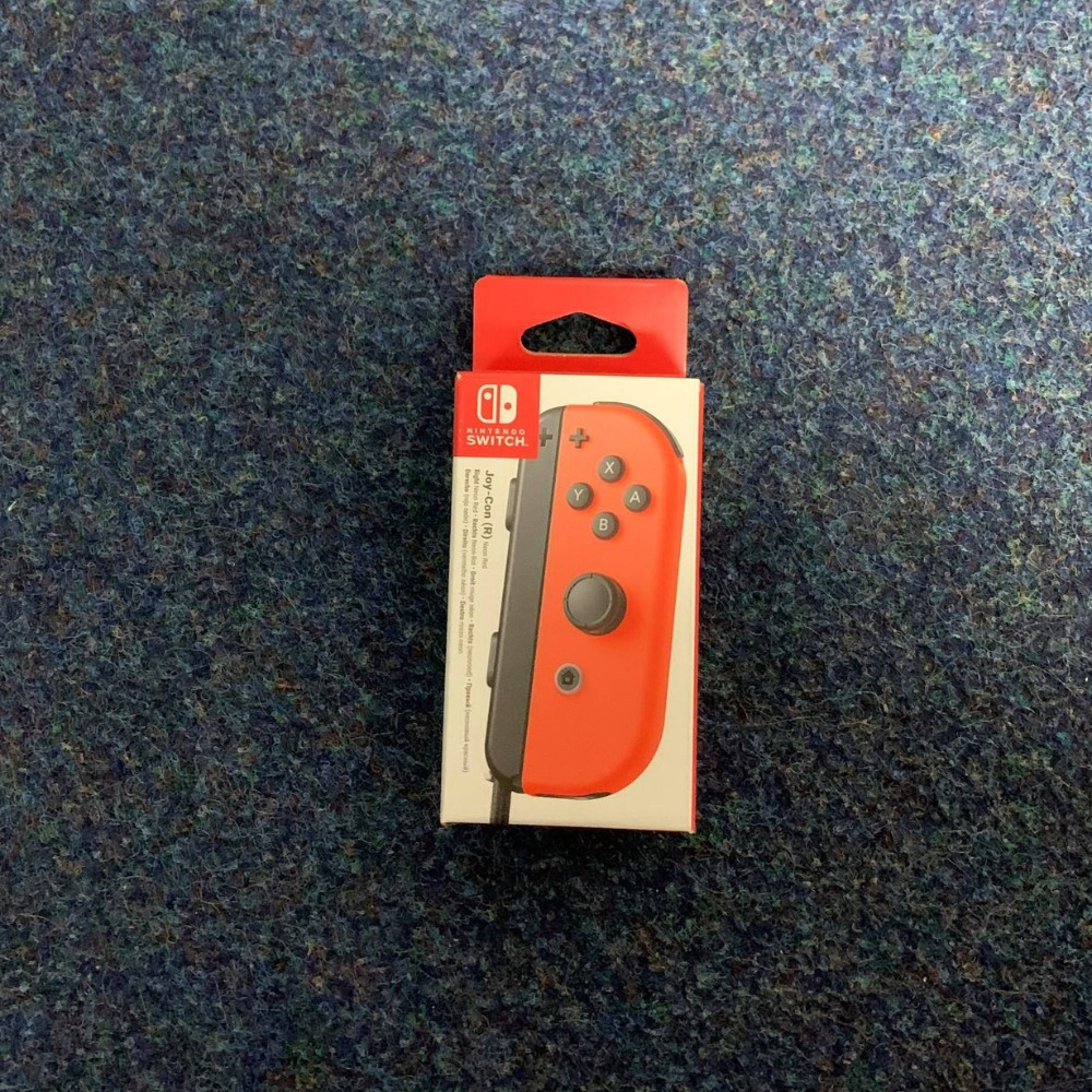 Product photo for Nintendo Joy-con right neon red