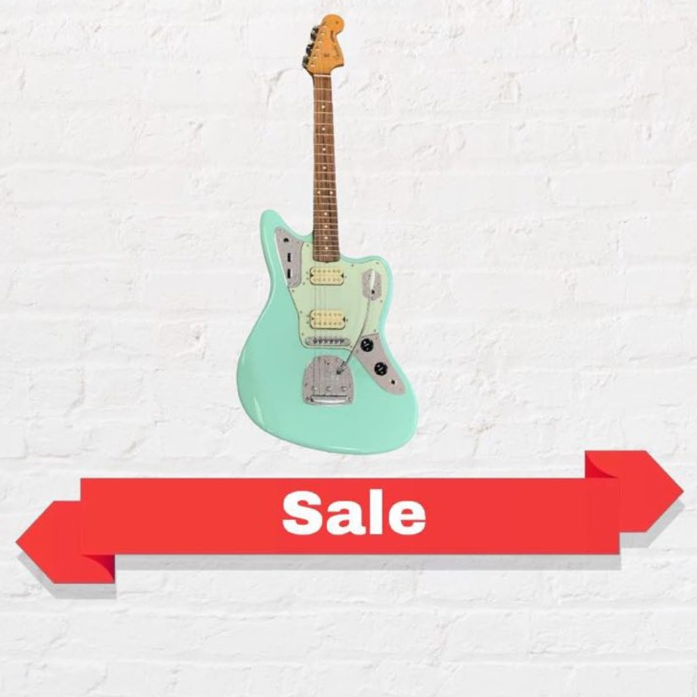 Product photo for !SALE! Fender Vintera 60s Jaguar Modified HH Electric Guitar (Sea Foam Green) Right Handed