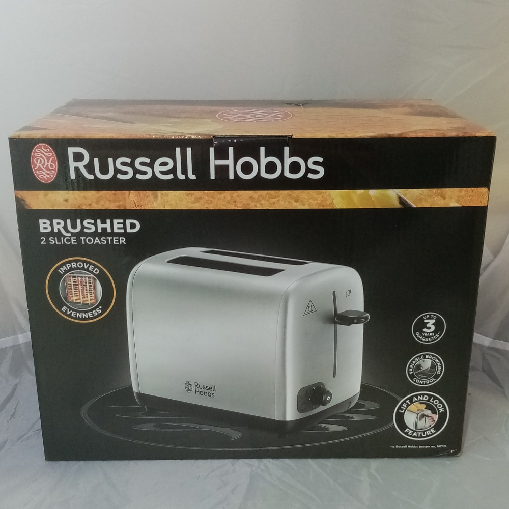 Product photo for Russell Hobbs Brushed 2 Slice Toaster