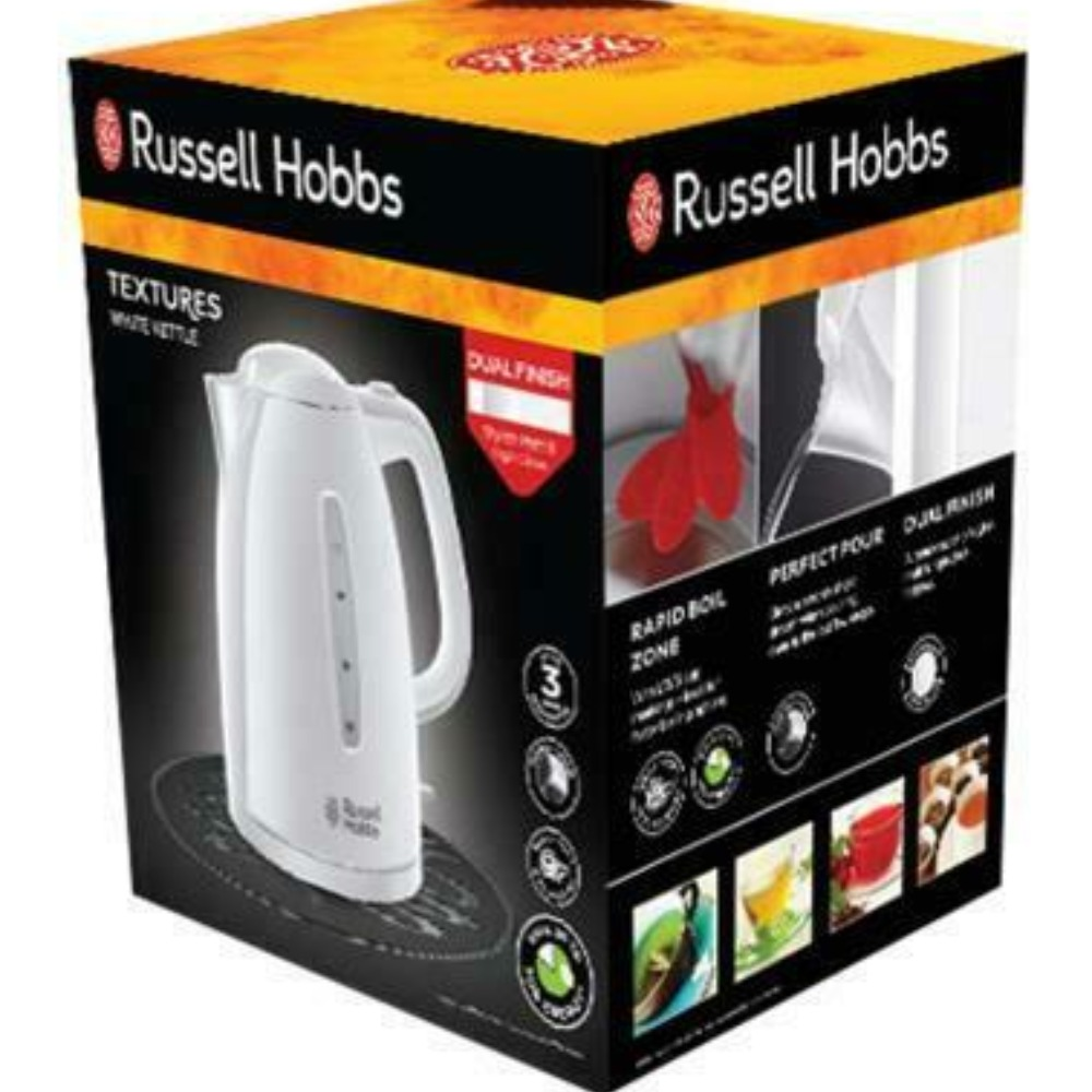 Product photo for Russell Hobbs text kettle white 21270