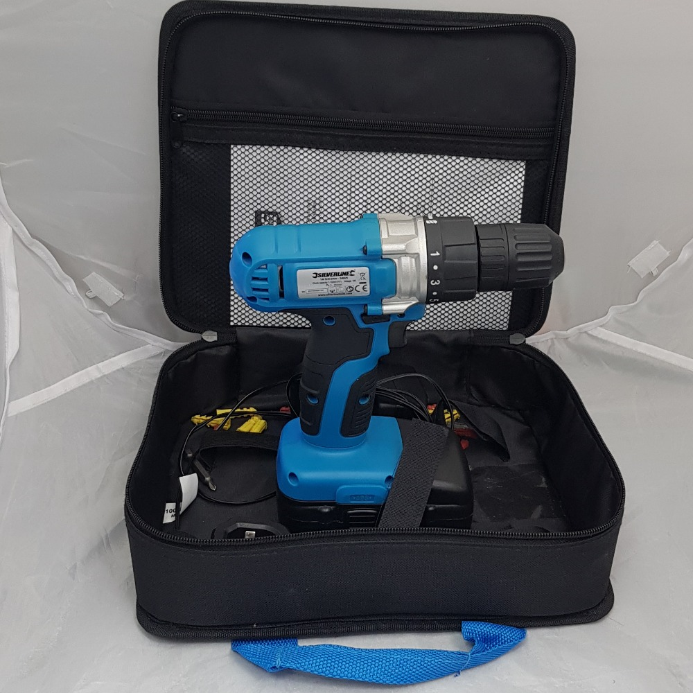 Product photo for 18V Silverline Cordless Drill