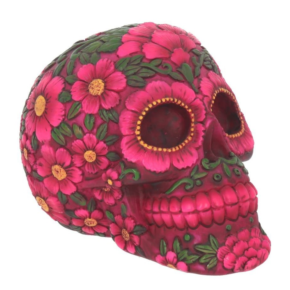 Product photo for Nemesis Now Sugar Blossom Skull