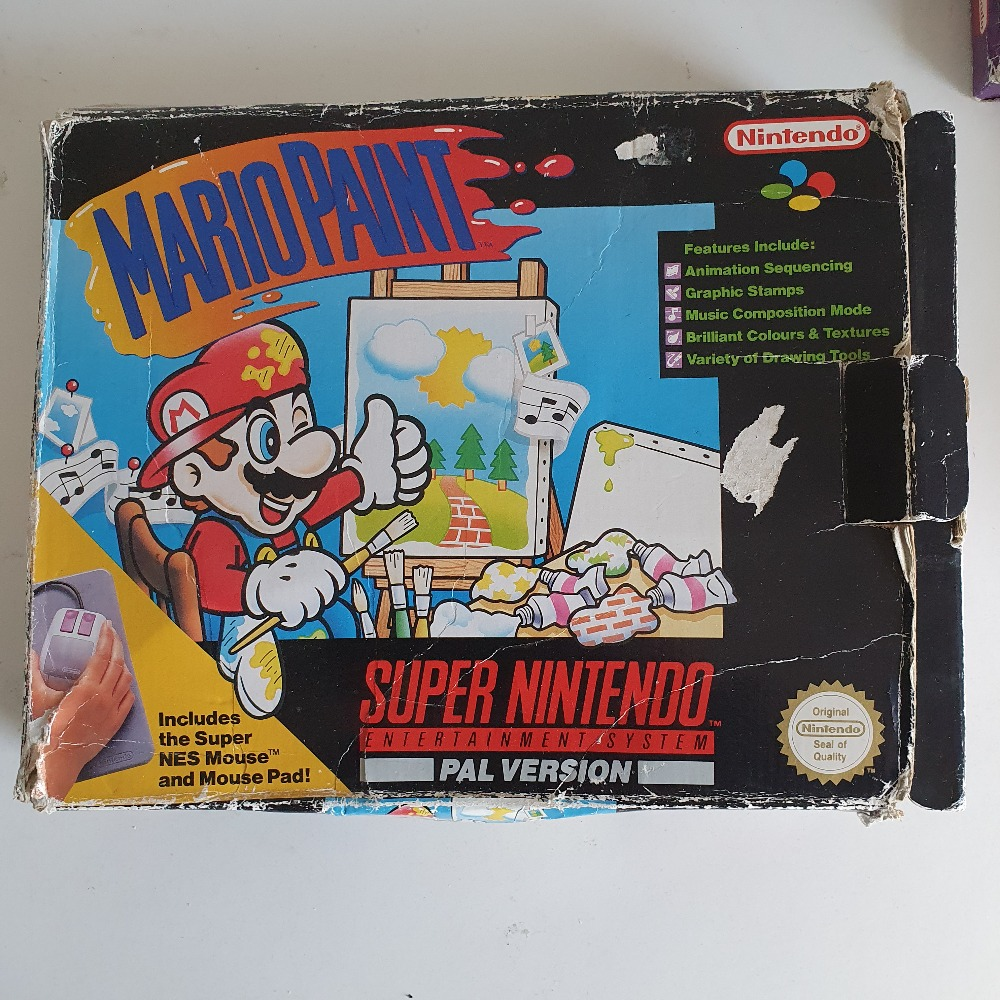 Product photo for mario paint snes boxed