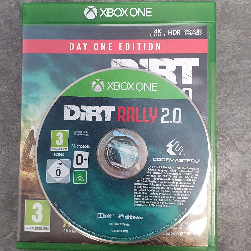 Product photo for  Xbox one game Dirt Rally 2.0 Day One Edition - XBOX ONE