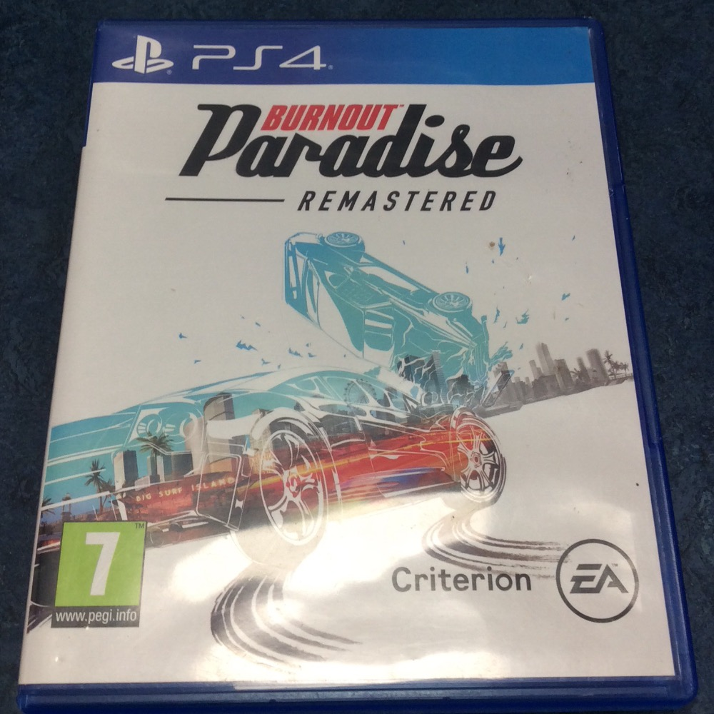 Product photo for PS4 Game Burnout paradise remastered