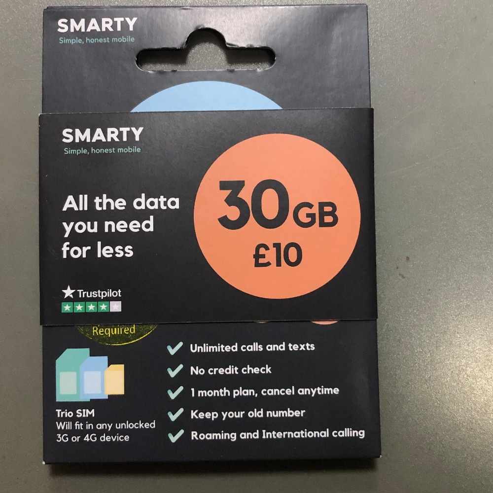 Product photo for Smarty Sim Card