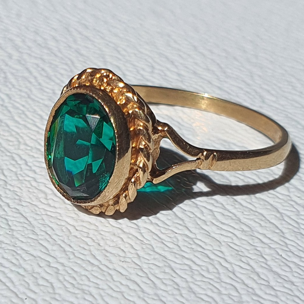Product photo for 9ct Yellow Gold Ring Size Q1/2-R