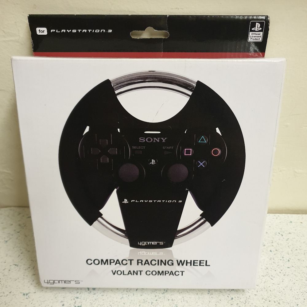 Product photo for Compact Racing Wheel, compatible with a ps3