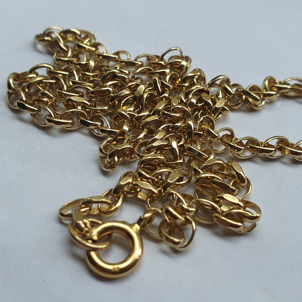 Product photo for Belcher Diamond cut link chain 9ct yellow gold