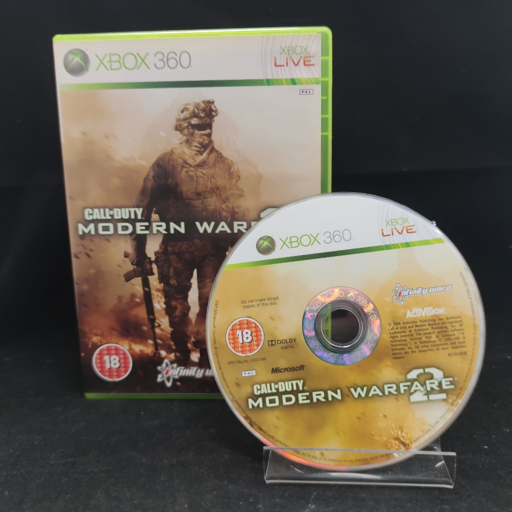 Product photo for  Microsoft Xbox 360 game COD Modern Warfare 2