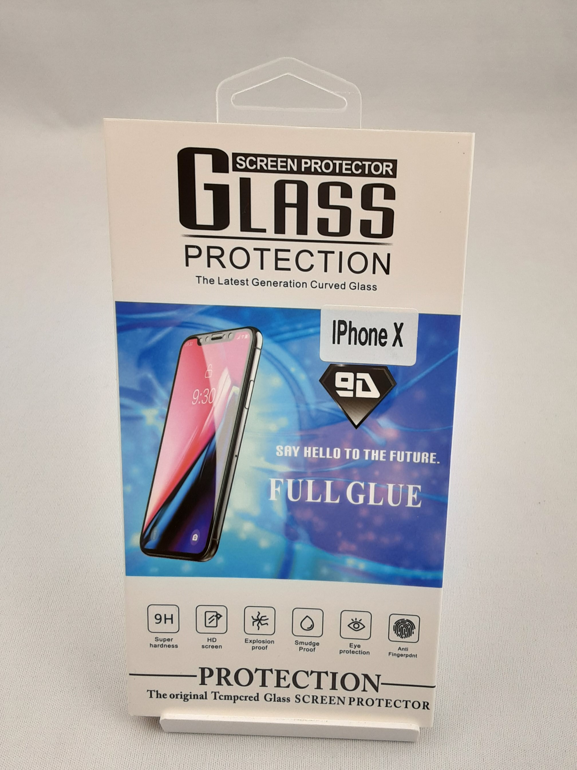 Product photo for Glass Protection iPhone X Screen Protector