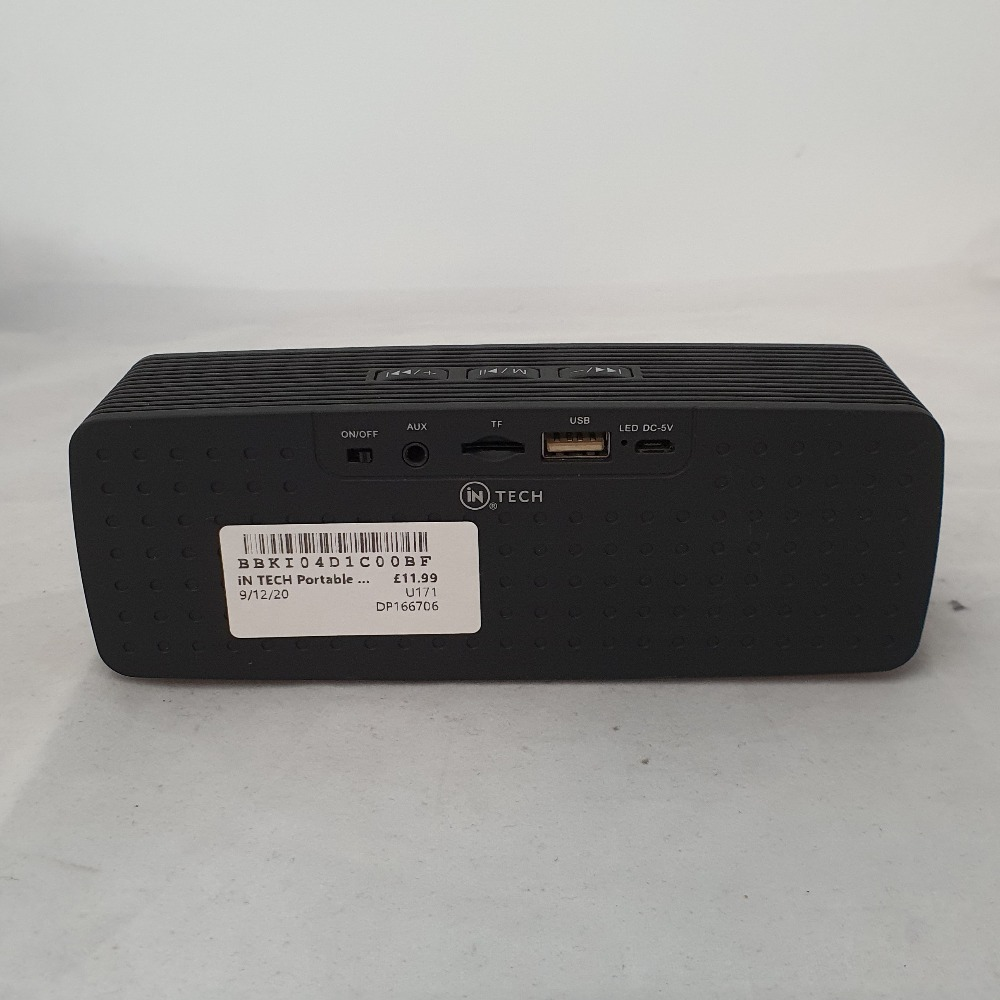Product photo for inTECH Portable Bluetooth Speaker