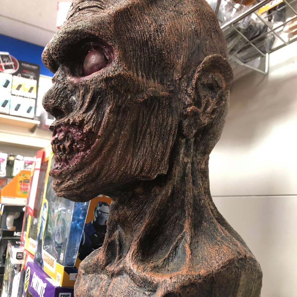 Product photo for 40cm Realistic Life Sized Zombie Head