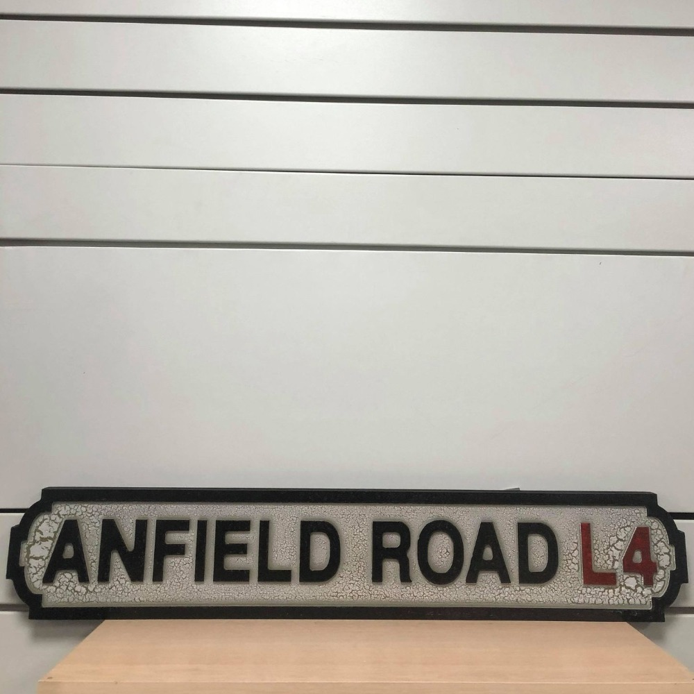 Product photo for Anfield Road MDF Sign (Liverpool Sign)