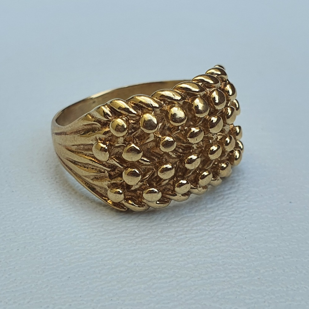 Product photo for 9ct Yellow Gold Keeper Ring