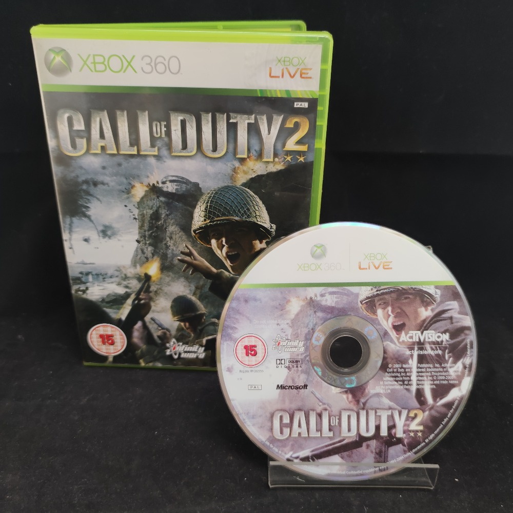 Product photo for  Microsoft Xbox 360 game Call Of Duty 2