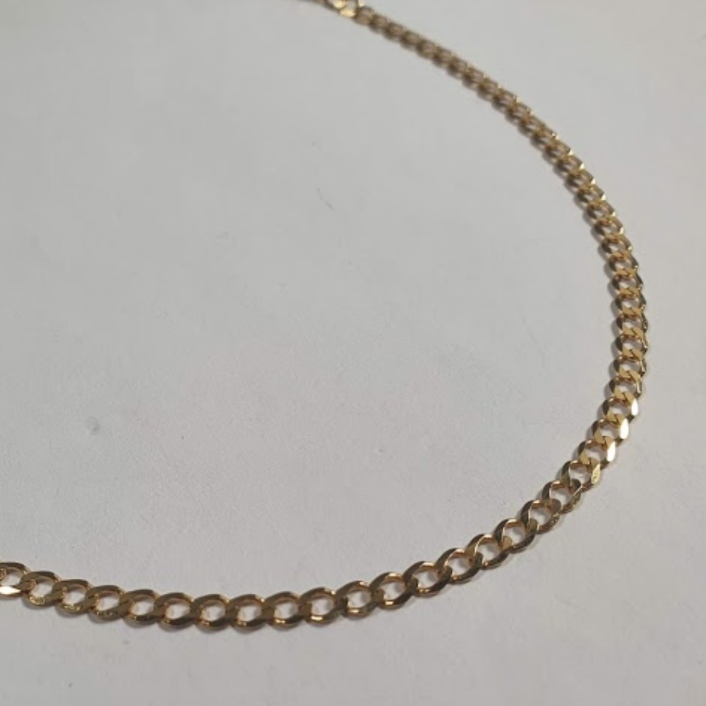 Product photo for Curb chain 9ct bright yellow gold 9ct 5.07 grams