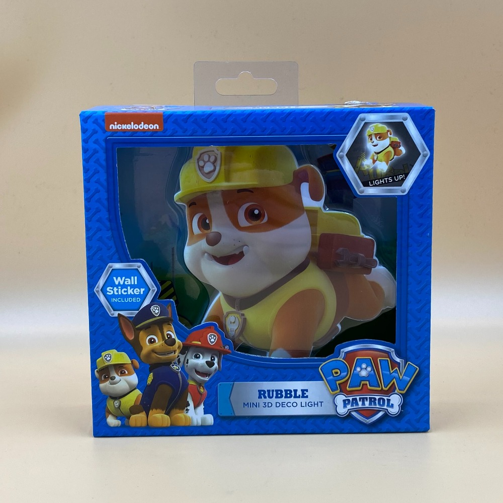 Product photo for PAW PATROL MINI RUBBLE LIGHT WITH STICKER
