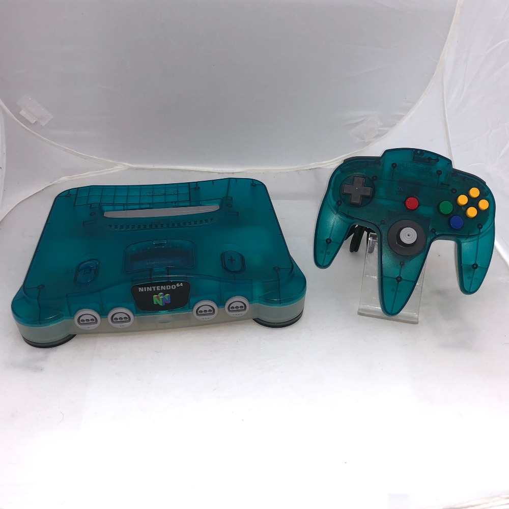 Product photo for Nintendo  64 Clear Blue Console and Controller (Unboxed) PAL