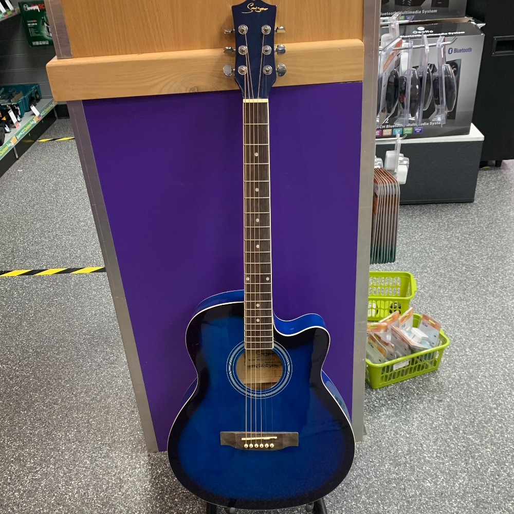 Product photo for !!Sale!! Cutaway acoustic guitar (Blue) (WAS £59.99)